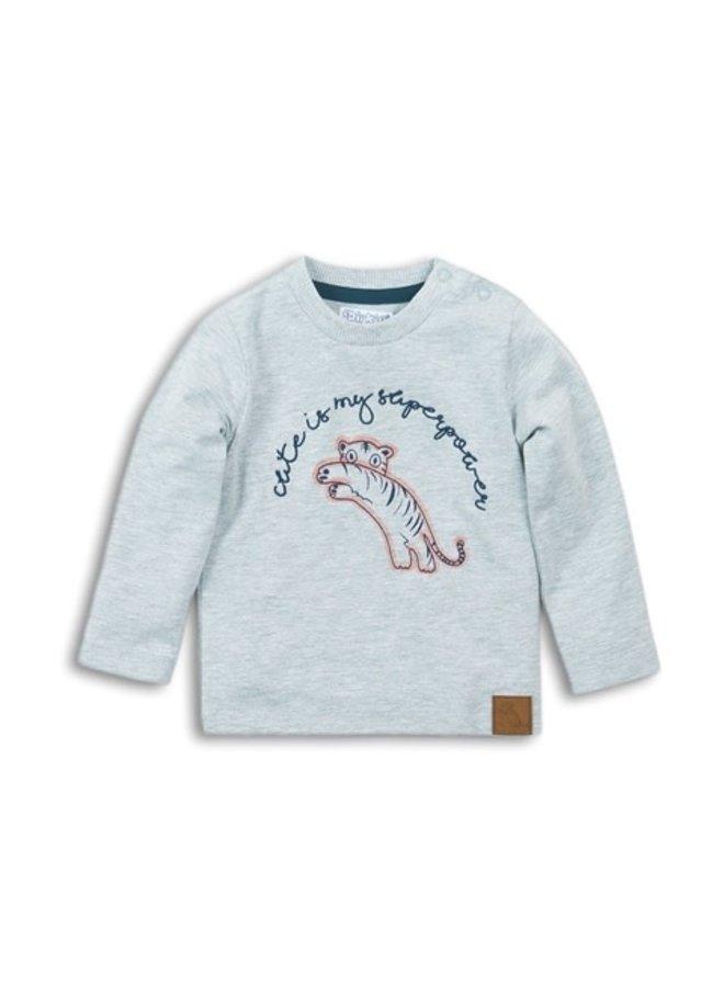 Baby T-shirt l/s - Grey Melange