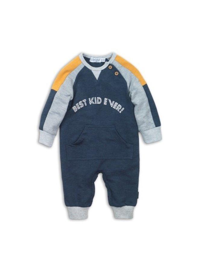 1 Pcs Babysuit - Navy Melange & Grey Melange & Ochre