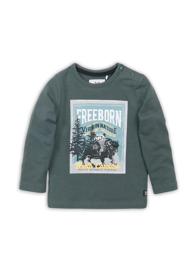 T-Shirt l/s - Dark Green