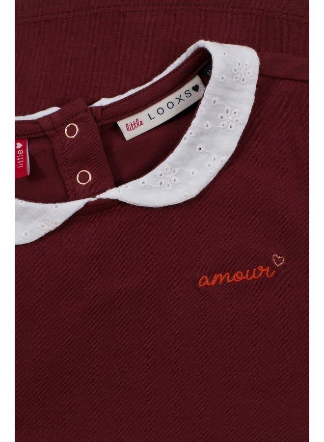 Collar T-Shirt - Wine