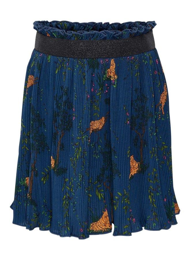 Luna Plisse Skirt - Vintage Indigo