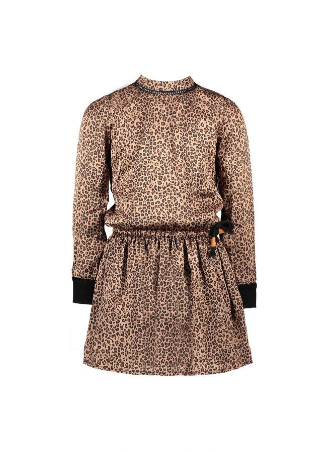 Minne Animal AOP On Satin Dress