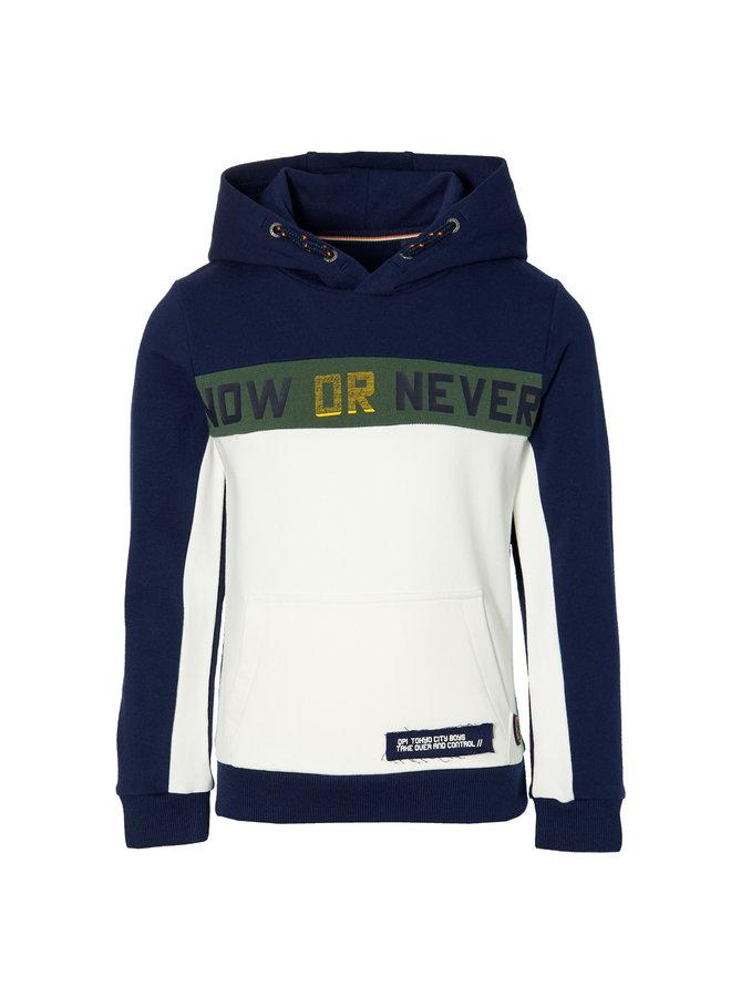 Denn - Hooded Sweater - Dark Blue