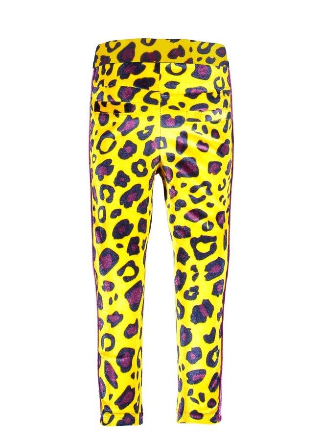Girls - AOP Panther Velvet Pants - AO Panther