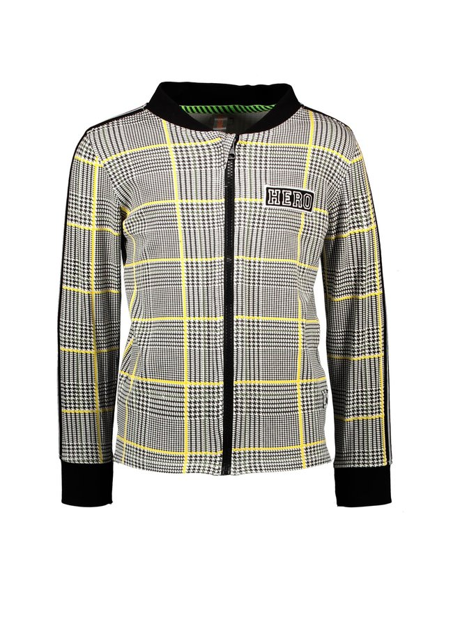 Boys - AOP Check Blouse With Zipper Closere - Hero Check White