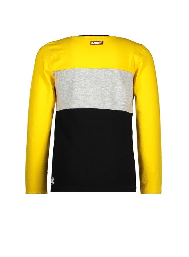 Boys - Cut And Sew Shirt With 3 Panels - Lemon Chrome