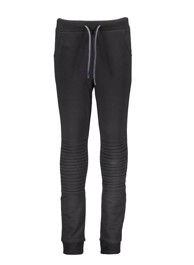 Boys - Sweat Pants With Folded Knee Detail - Black