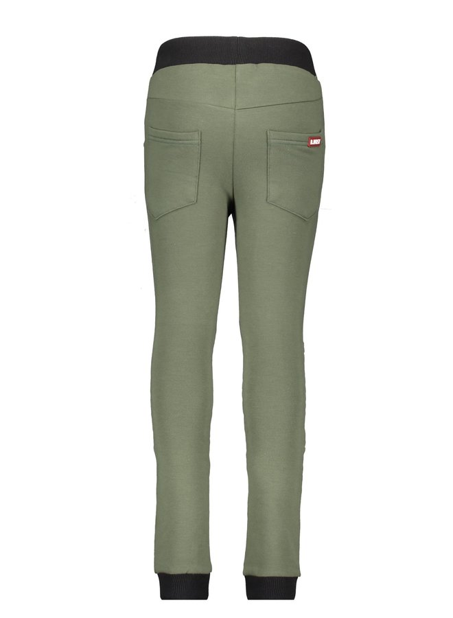 Boys - Sweat Pants With Folded Knee Detail - Army Green