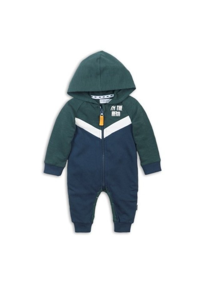 1 pce Babysuit - Green & Navy