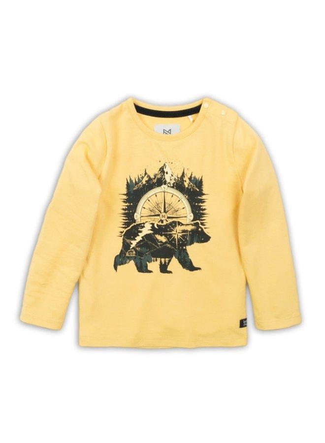 T-shirt Ls - Yellow