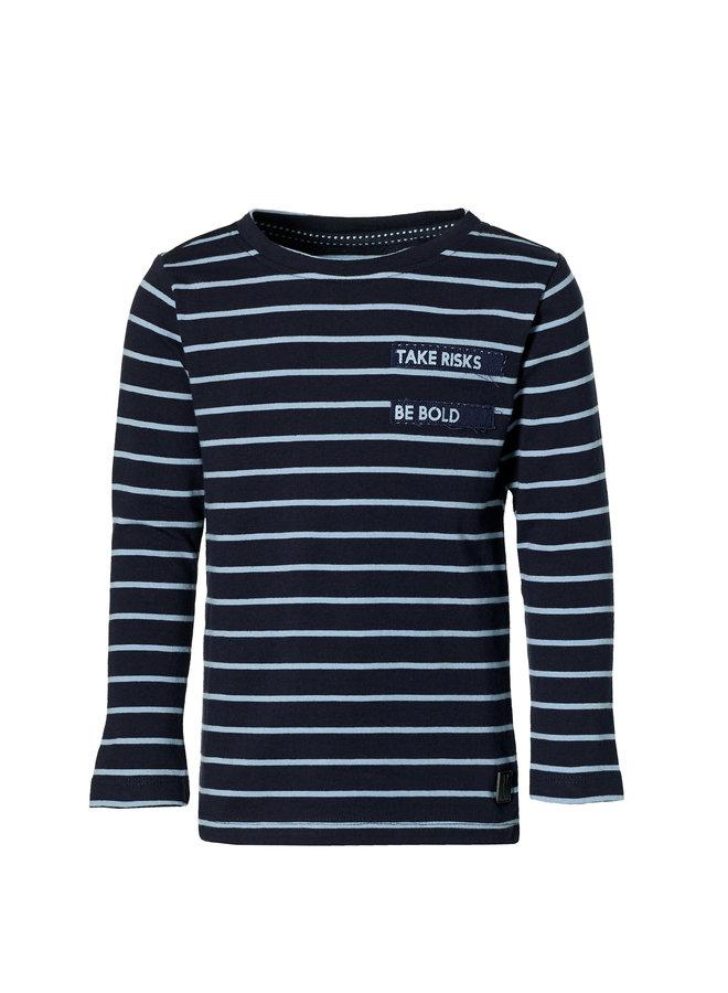 Lambert - Longsleeve - Dark Blue Stripe