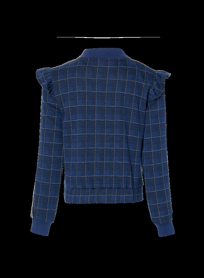 Kendra - Jacket - Dark Blue Check