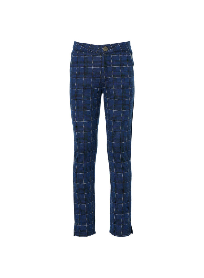 Kimmy - Pants - Dark Blue Check