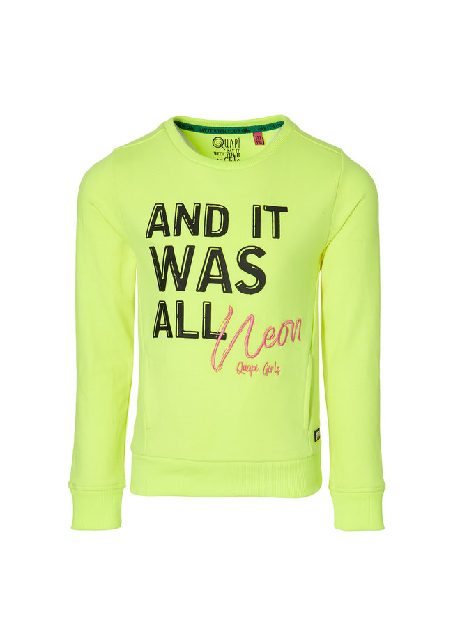 Davita - Sweater - Neon Yellow