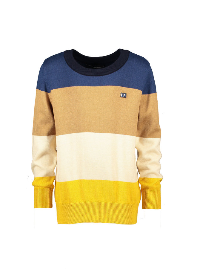 Theo Colourblock Sweater - Copen Blue