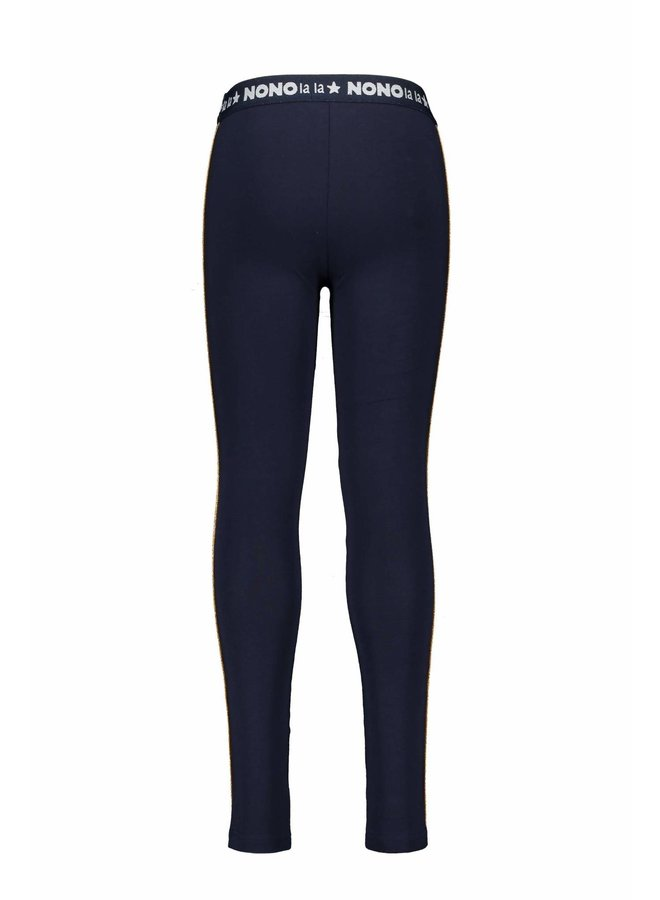 Sole Legging With Bronze Piping - Navy Blazer