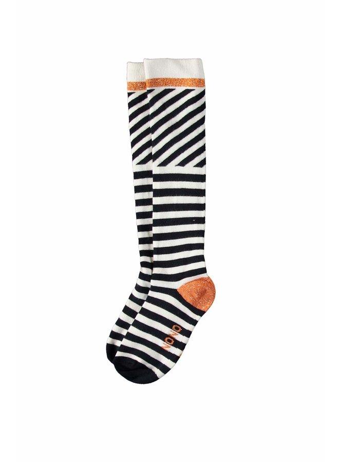 Rae Long Sock Stripes - Navy Blazer