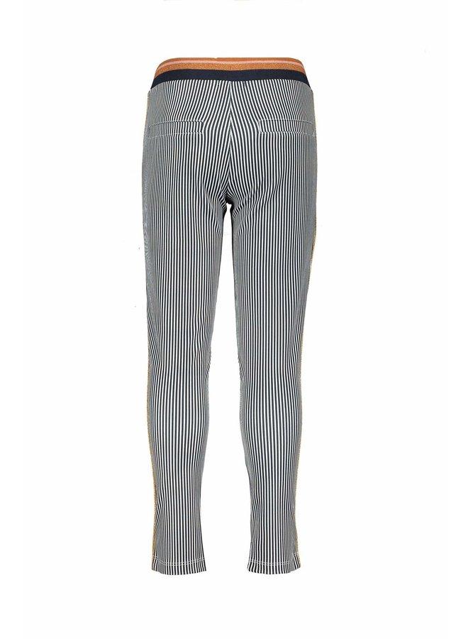 Secler Pants AOP Stripe On Punta Di Roma - Navy Blazer