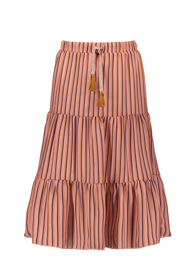 NaelB Maxi Skirt AOP Stripe - Lychee