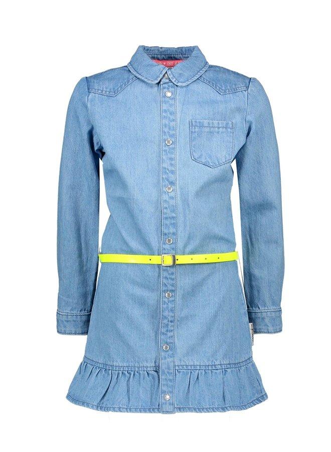 Girls Denim Dress 3 Part - Free Denim