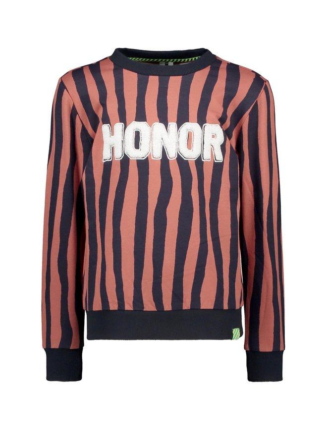 Boys Sweater With Zebra Stripe - Pale Zebra