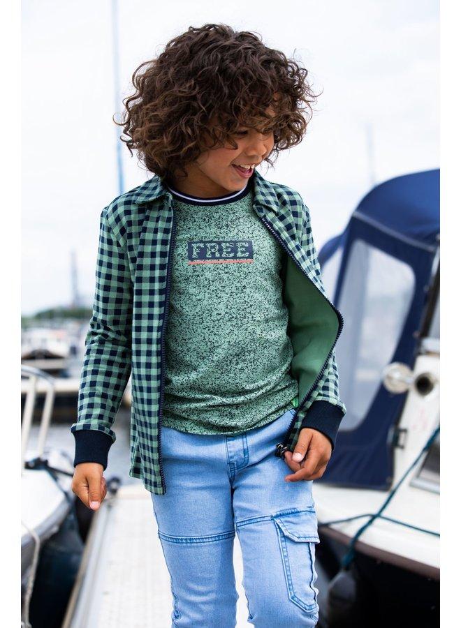 Boys SS Shirt With Allover Melee Print - Melee Hunter AO