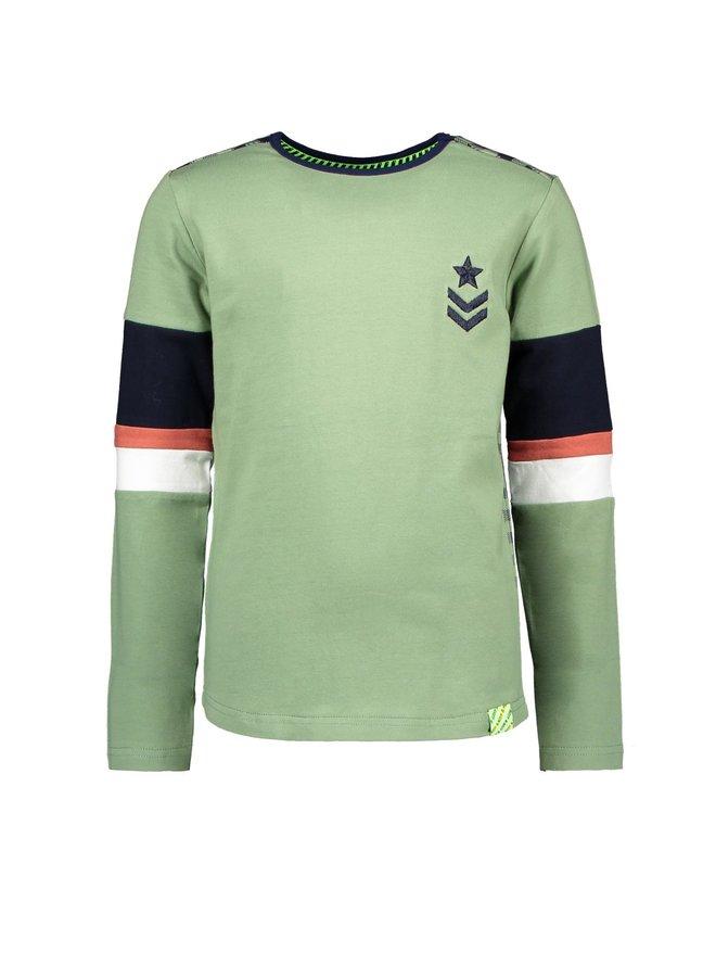 Boys Shirt With Contrast Check Backside