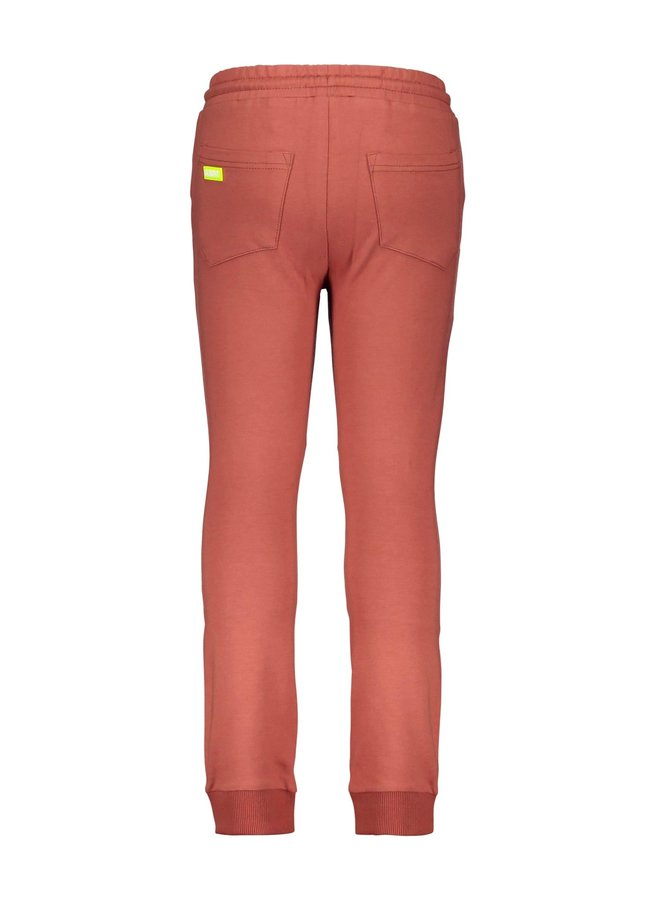 Boys Sweat Pants With Tape On The Side - Pale Brown