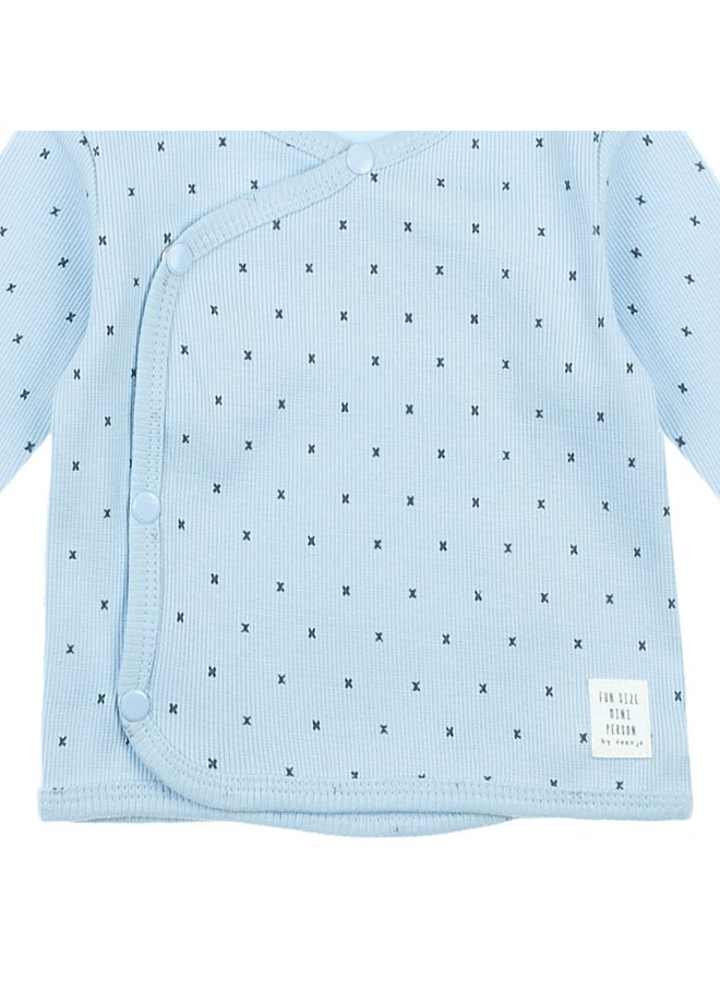 Omslagshirt - Mini Person - Blauw