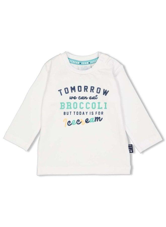 Longsleeve Tomorrow - Team Icecream - Wit
