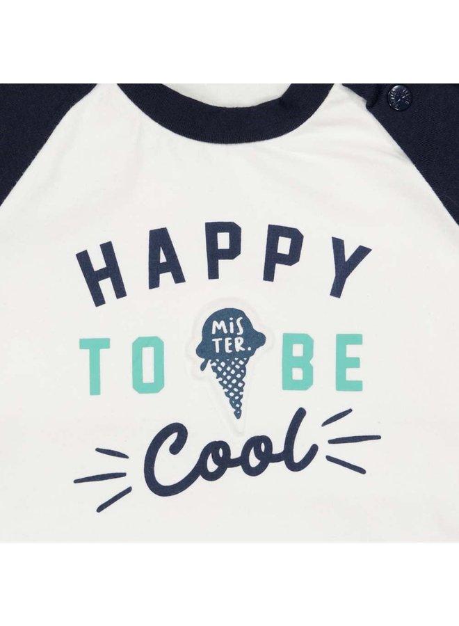 Sweater Happy - Team Icecream - Wit