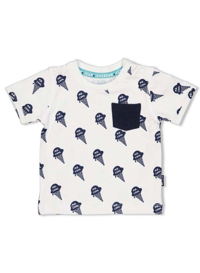 T-shirt AOP - Team Icecream - Wit