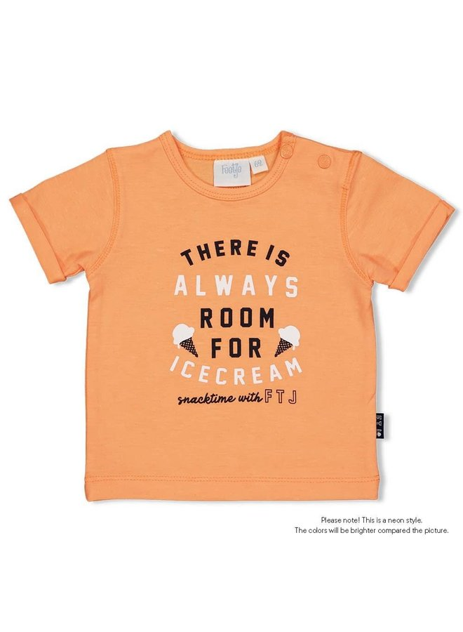 T-shirt Always - Team Icecream - Neon Oranje