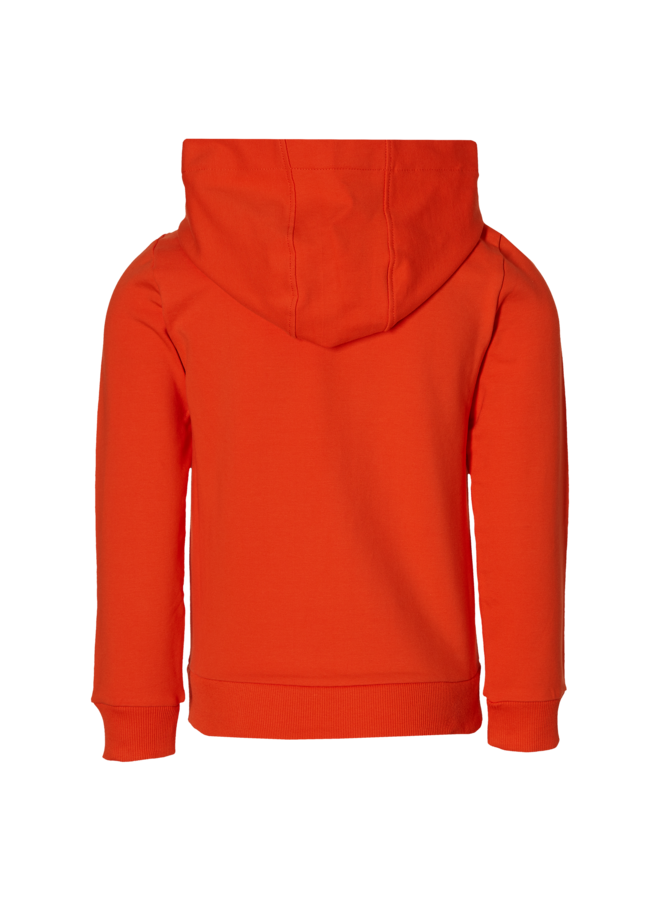 Figo - Hooded Sweater - Orange Red