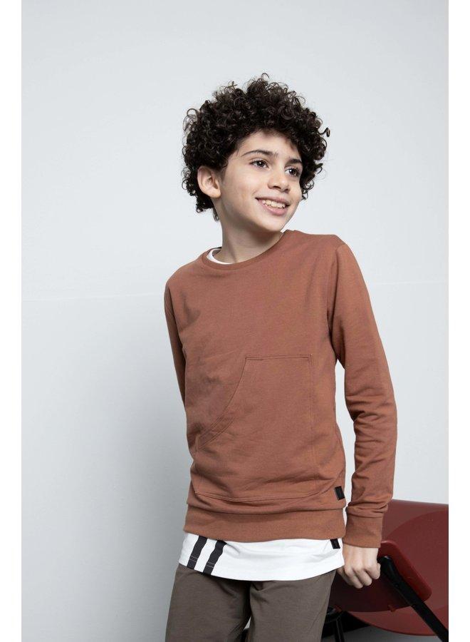 Mas - Sweater - Copper Brown