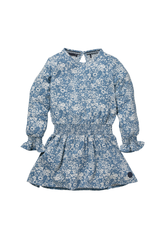 Nadine - Dress - Mid Blue Flower