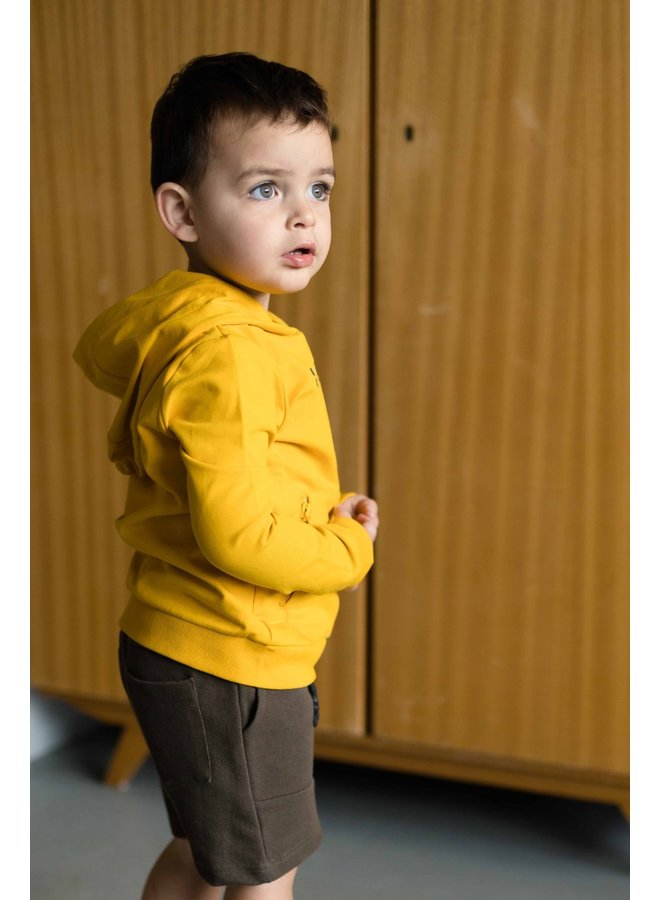 Neo - Hooded Sweater - Old Yellow