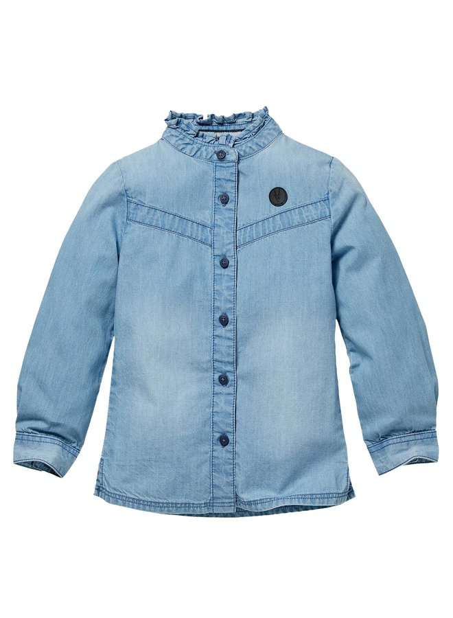 Noukie - Blouse - Mid Blue Chambray