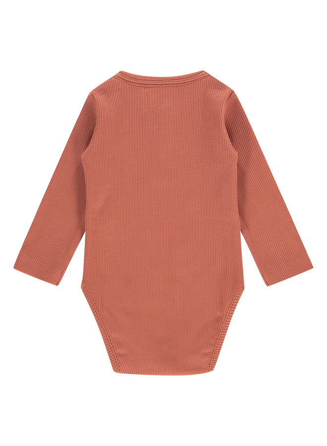Baby Romper Longsleeve - Indian Red SS21