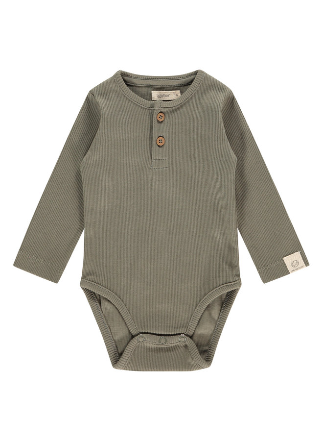 Baby Romper Longsleeve - Olive Green SS21