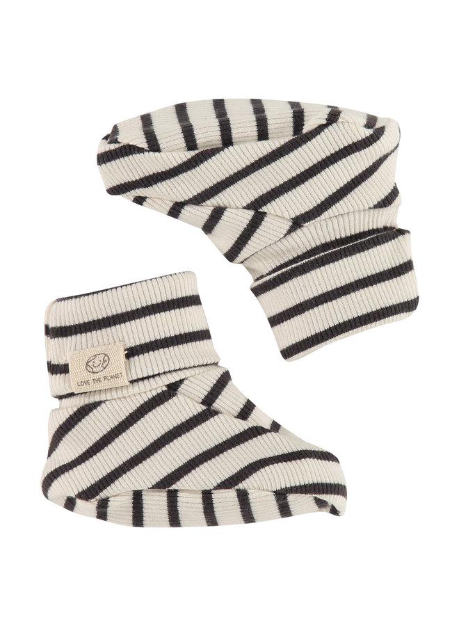 Baby Slippers - Ebony