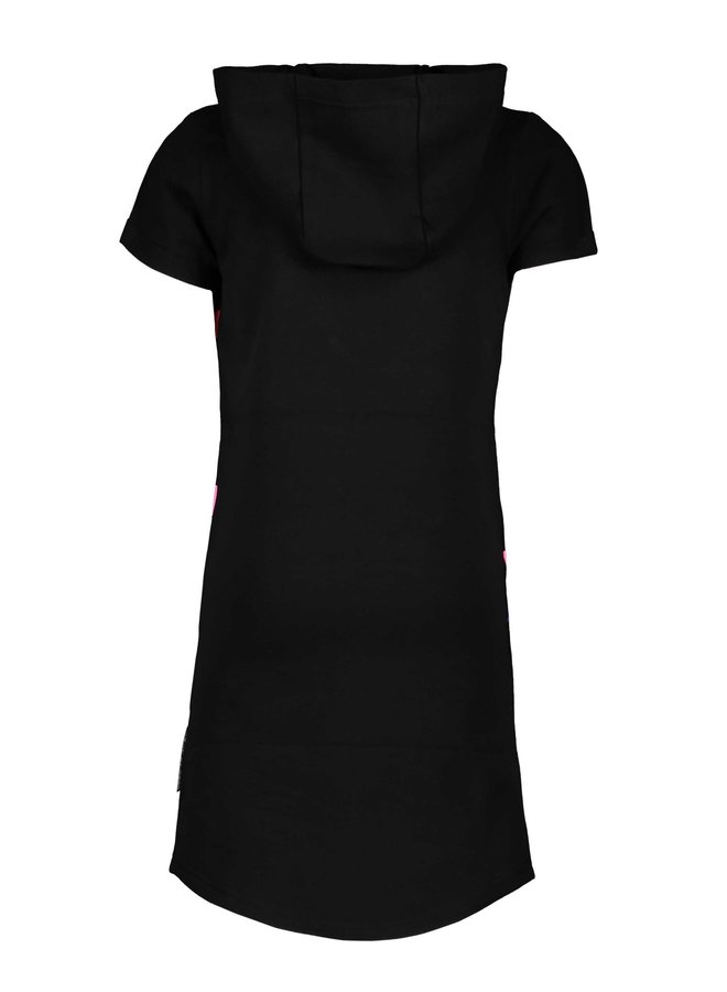 B.Yourself - Hoodie Dress - Black