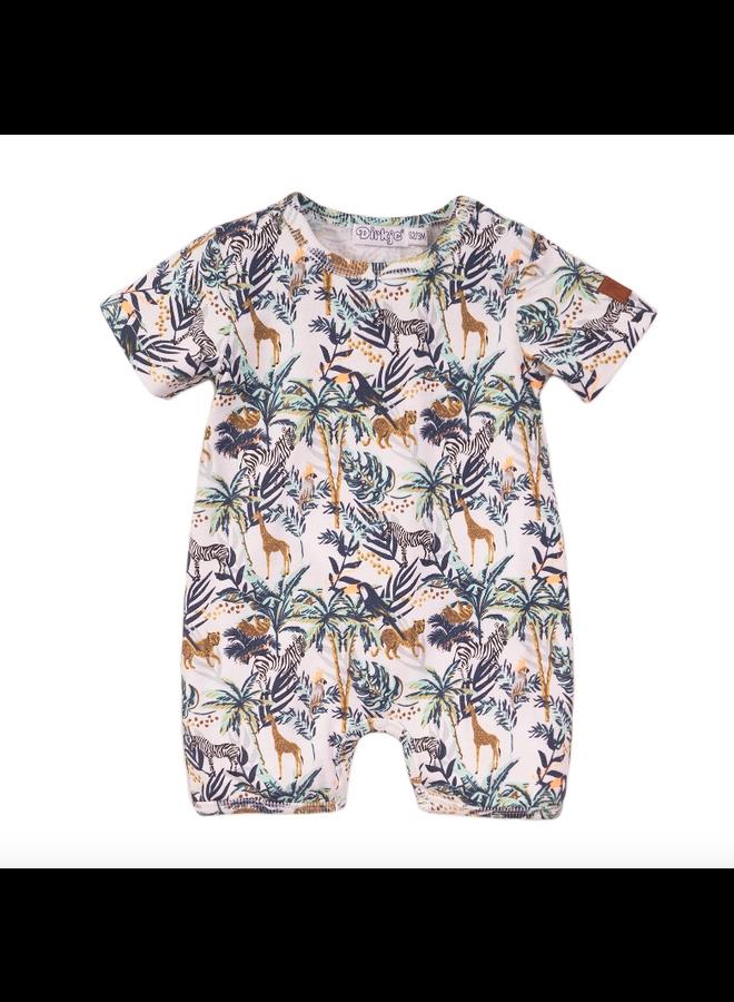 1 Pce Babysuit Short - Multi Colour SS21