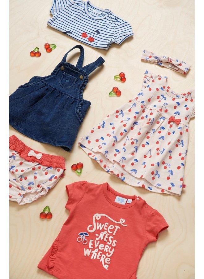 T-shirt Streep - Cherry Sweetness - Marine