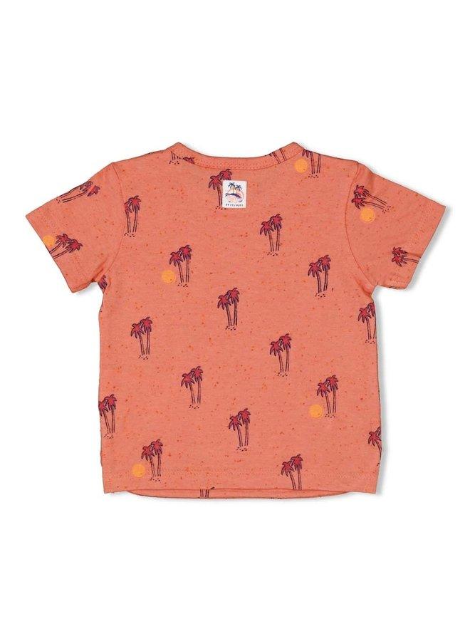 T-shirt AOP - Here Comes The Fun - Koraal