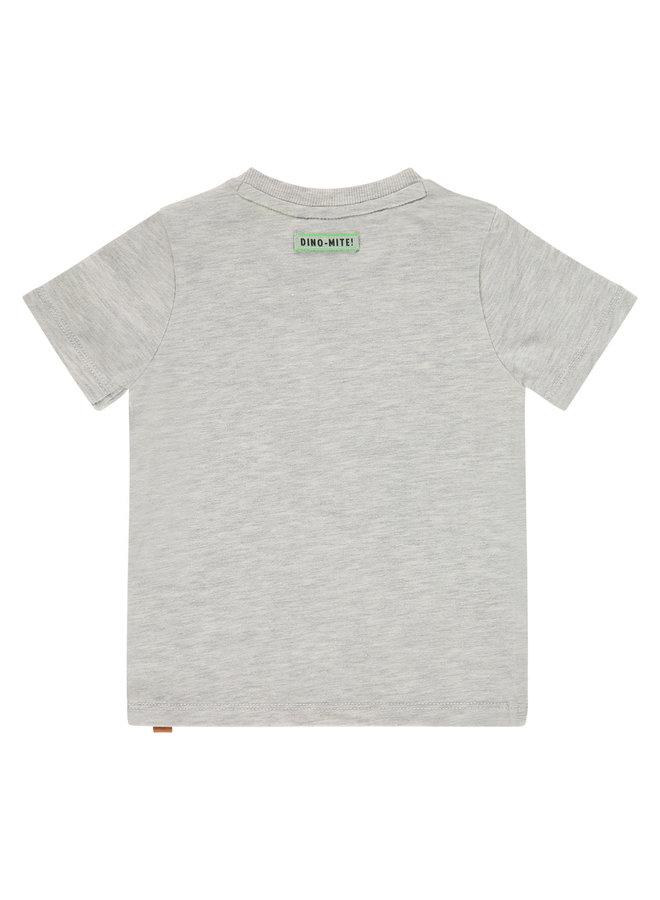 Boys T-shirt Short Sleeve - Light Grey Melee SS21