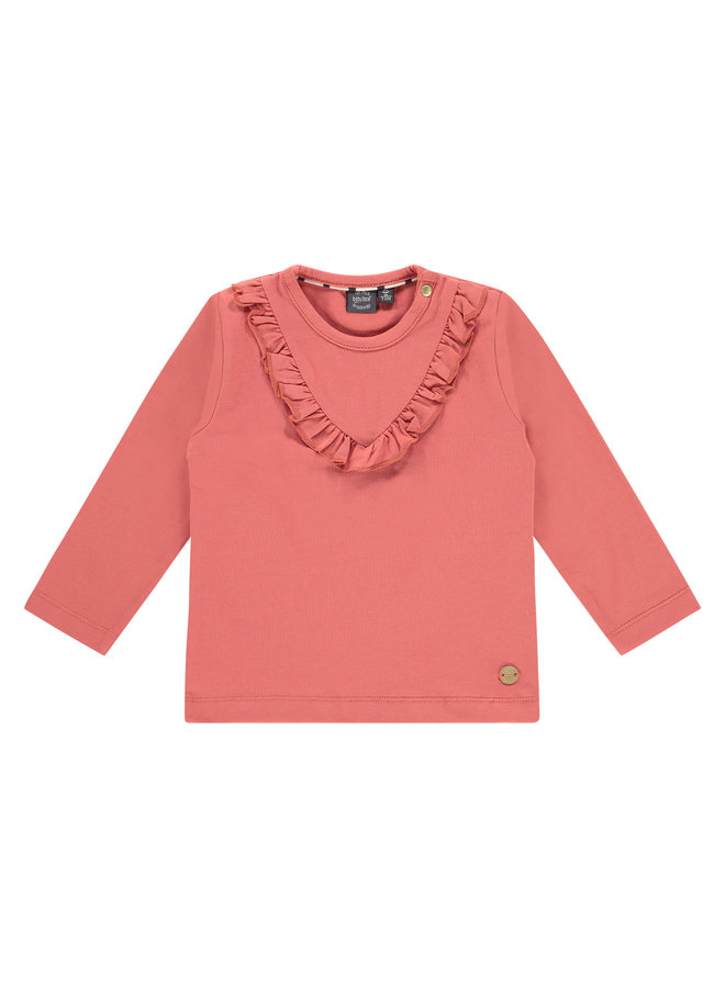 Girls T-shirt Long Sleeve - Faded Rose SS21