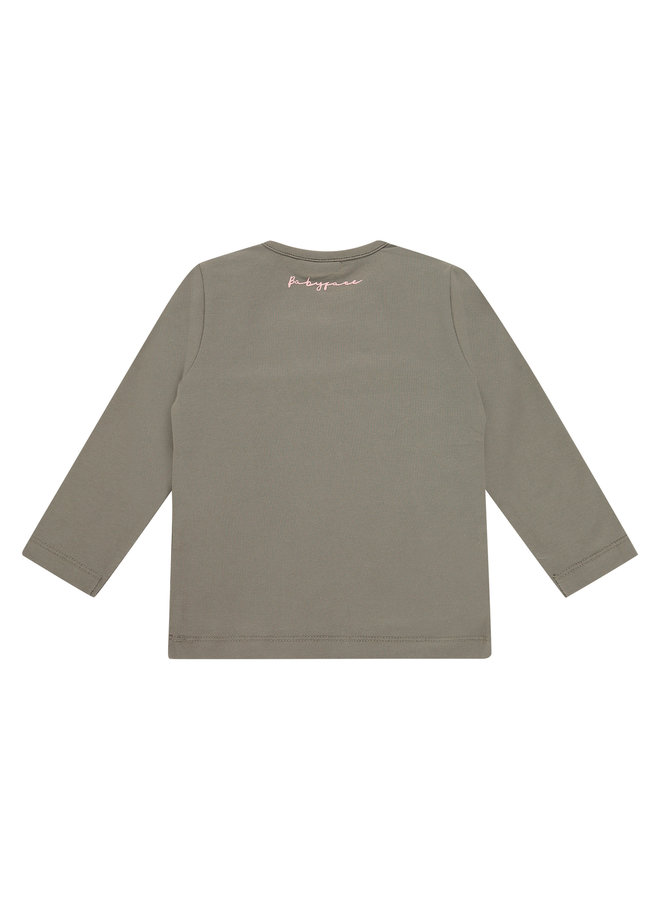 Girls T-shirt Long Sleeve - Moss SS21