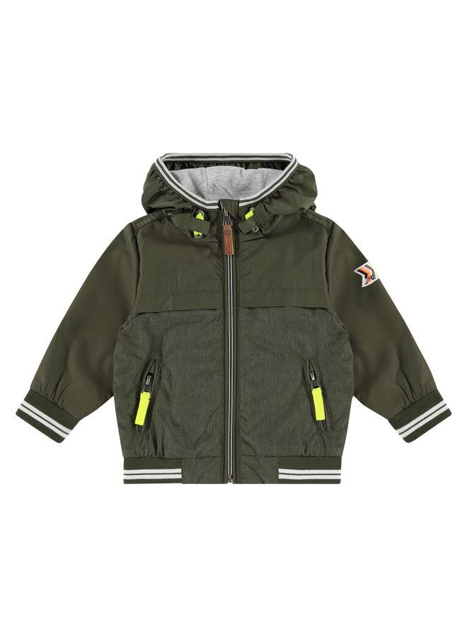 Zomerjas Boys Summerjacket - Green Army SS21