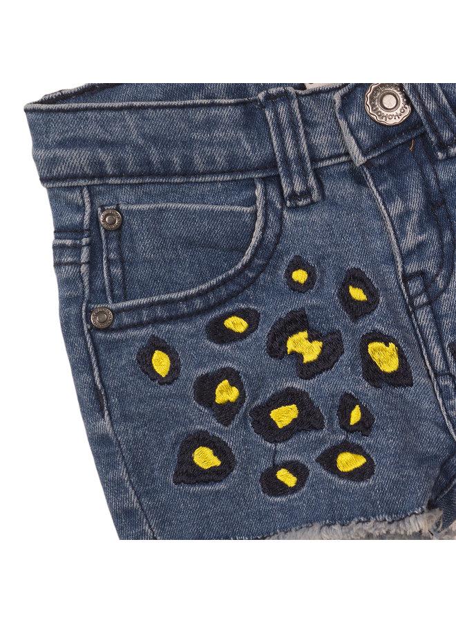 Girls Jeans Shorts - Blue Denim SS21